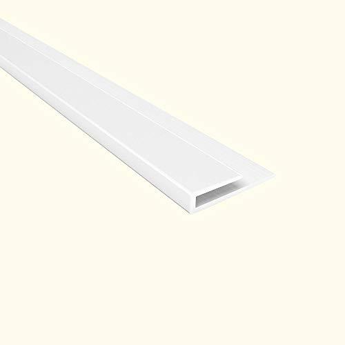 Fasade 4-Foot Gloss White Large Profile J-Trim