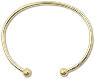 Gold Tone Cuff Bangle Bracelet with Screw End 87002 by Minor Details