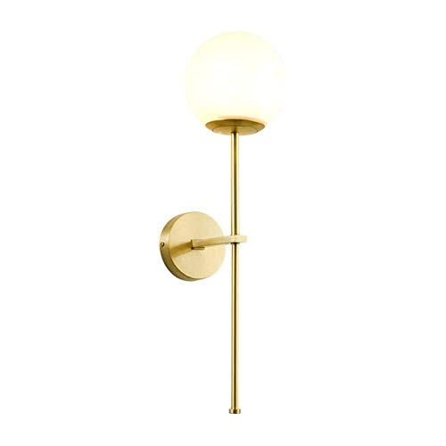 Illuminazione per Interni Lampade da Parete Nordic semplice luce lusso Camera da letto moderna creativa ha condotto la lampada da parete, paralume in vetro, adatto a camera da letto Bedside Corridoio