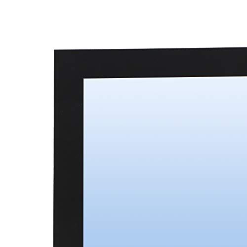 Espejo con Marco de Madera / Varios tamaños y Colores, Serie 2717 (Negro (Ref.-10), 180 x 80 cm)