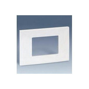 Simon 2700612-030 - Placa Americana Blanca 2 Mód. Estrech