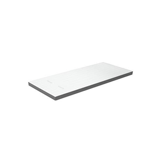 Genius Eazzzy Deluxe - Sobrecolchón (90 x 200 cm, transpirable, ortostático y comprobado, colchón viscoelástico contra el dolor de espalda con 9 cm de altura, dureza H3 + funda)