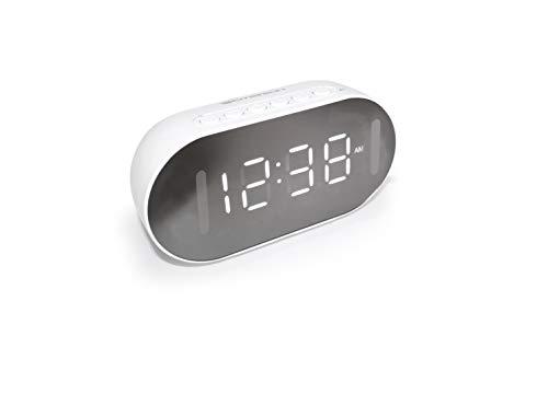 Emerson Dual Alarm Clock with Bluetooth Speaker, FM Radio, Phone Rest, Temperature Sensor and Night Light ER100206