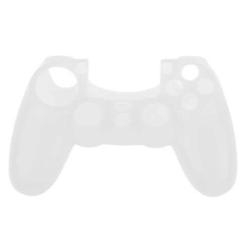 OSTENT Protective Silicone Gel Soft Case Cover Pouch Sleeve Compatible for Sony PS4 Controller - Color White