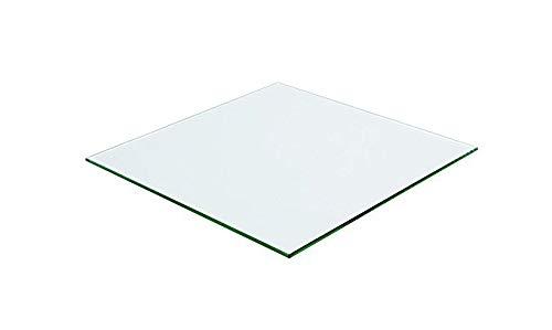 Meubletmoi dienblad, vierkant, van gehard glas, transparant – tafelblad robuust – voor tafel & salontafel 100