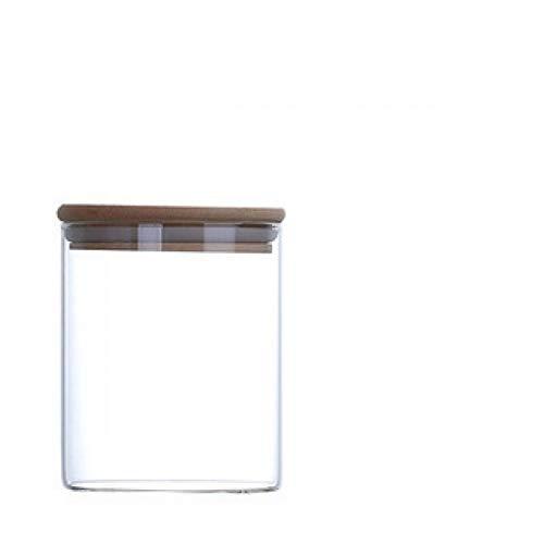 hsy Recipientes de Almacenamiento de decoración de azúcar Dulce,Jarras de Vidrio Tapas herméticas Cocina Sweet Jar Tarros de Almacenamiento Tapa Tarro de Galletas Conservar Tarro Tarro de Miel
