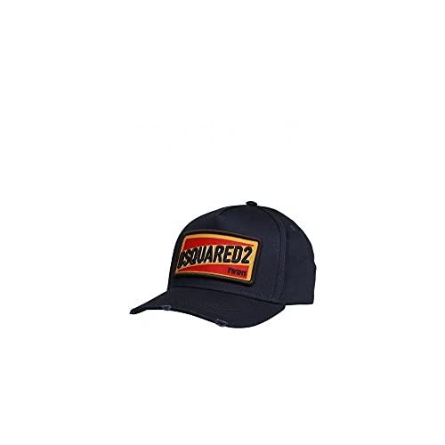 Dsquared 2 parches bordados Logo Cap azul marino talla única