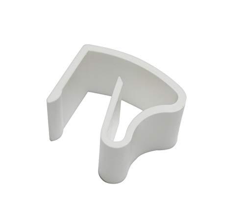 Gardinia Universal Klemmhalter für Aluminium-Jalosien, 6 Stück, Montage ohne Schrauben und Bohren, weiß, Kunststoff