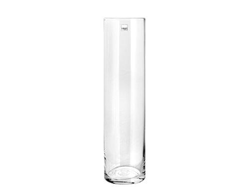 H & H 8249830 Pengo vaas glas cilindrisch, 11 x 30 cm, transparant