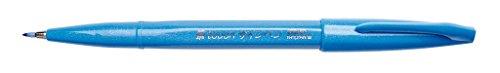 Pentel SES15C-S Feutre Pinceau en souple à base d'eau pour Croquis Turquoise