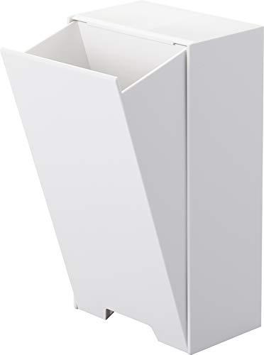 (Yamazaki)ホワイト約W12XD7.5XH22cmタワー強力マグネット付き4954