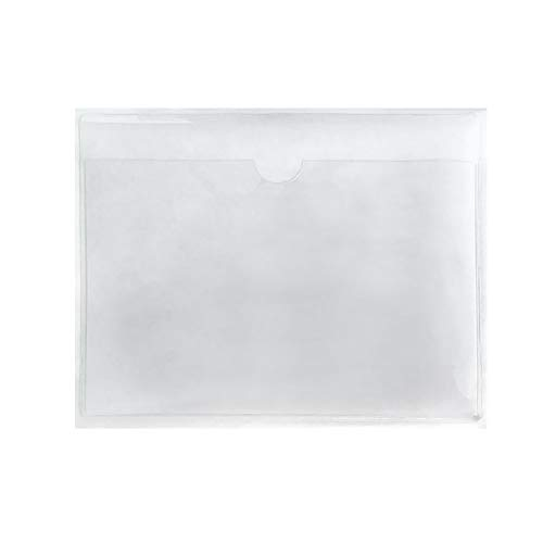 """100-Pack Self-Adhesive Label Holder Press-On Sleeves Index Card Pockets for Label Parking Permit Business Card-Horizontal-2.09"""" x 1.5"""" Photo #2"""