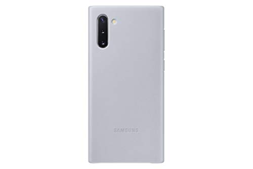 Samsung Galaxy Note10 Case,  Leather Back  Protective Cover - Silver (US Version with Warranty) - EF-VN970LJEGUS