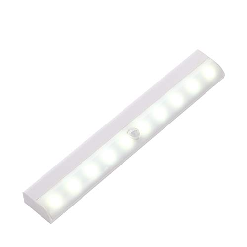 Keep It 100 Motion Sensor Light, LED Night Light Battery Powered Magnetic Strip Stick-on Lighting for Under Cabinet Cupboard Wardrobe Closet Counter Shed Stairs (2 Pack)