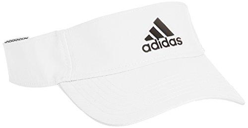 adidas Climalite Visor Gorra, Unisex, Blanco/Negro, OSFM