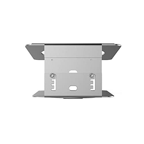 GJHK Soporte para computadora portátil, soporte giratorio para computadora de escritorio, altura ajustable, suministros de oficina de metal (color plateado)
