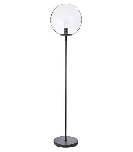 Luminaire Globus, lampadaire décoratif métal/verre, 40 W, noir, ø 34 x H 160 cm