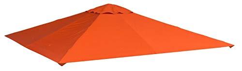 miozzi Tetto di Ricambio per Gazebo da Giardino 3x3 m in Poliestere Morgan Arancione