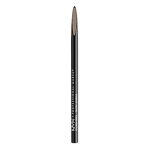 NYX Professional Makeup Lápiz de cejas Precision Brow Pencil, Dos lados: lápiz de cejas y cepillo espiral, Fórmula vegana, Tono: Blonde