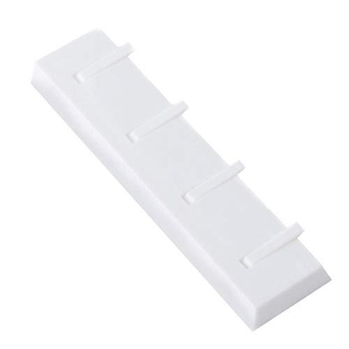 Hanger Free Punch voor badkamer, keuken, sterk klevend wandrek, verzonken haken wit