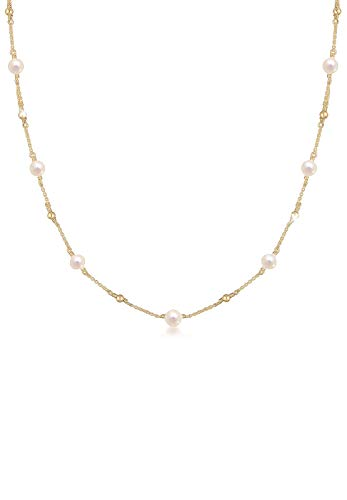 Elli Halskette Erbskette Kugel Süßwasserzuchtperle 925er Silber
