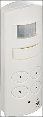 Yale SAA5015 Wireless Shed and Garage Alarm, Free-Standing or Wall-Mounted, 4 Digit Pin-Code, Battery-Powered, Motion Detection, 100dB Siren, Easily Secure Outside Buildings and Caravans, White