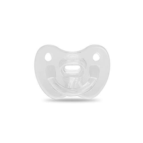 Suavinex 302521 - Suavinex - chupete para dormir todo silicona para bebés 0/6 meses, con tetina anatómica de silicona, suave y flexible, ideal para dormir, color transparente,unisex,color transparente