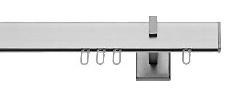 tilldekor Innenlaufsystem Gardinenstange Square-LINE kantig - Aluminium - 160 cm 1-Lauf