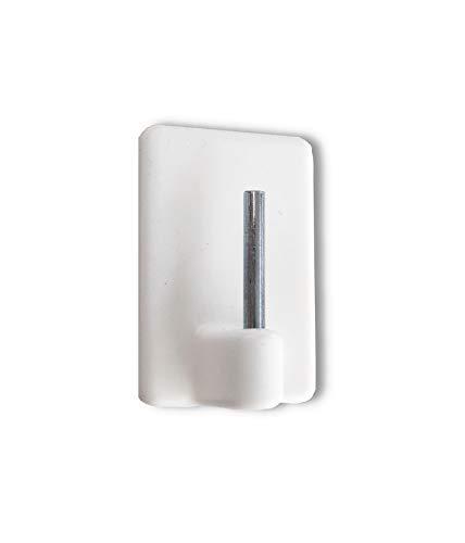Scheiben-Gardinenhaken - Gardinenhaken selbstklebend für Vitragenstangen - mit extra großer Klebefläche - 4 Stück - weiß