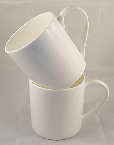 Rama Sales 36 tazas de café con mango pequeño blanco de sublimación de 11 onzas llanas en blanco con caja (paquete de 36)