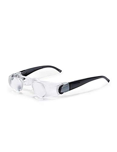 LIMEI-ZEN Lupa de HD Montado en la Cabeza de Cristal, ampliación Ajustable, 2X de Alta definición óptica Acric Doble Lente, portátil Eye-Protector de Vidrio, Estudio y la apreciación de la Oficina de