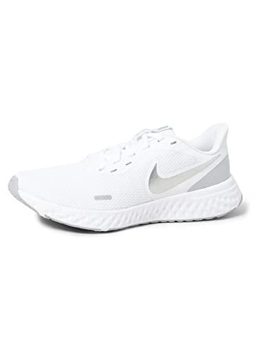 Nike Wmns Revolution 5, Scarpe da Corsa Donna, White/Wolf Grey-Pure Platinum, 39 EU