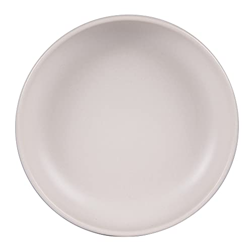 Table Passion - Plato hondo 22 cm, uno beige reactivo (lote de 6)
