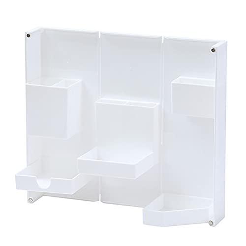 STOBOK Organizador de escritorio de papelería plegable titular de la pluma Contenedor de lápiz de escritorio maquillaje cosmético caja de almacenamiento para suministros de oficina en el