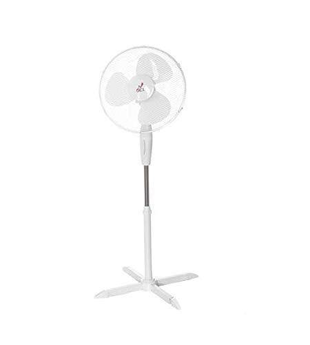 JCL Ventilatore A PIANTANA con Pala 40 Bianco