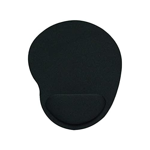 Tappetino per mouse con poggiapolsi, tappetino per mouse con superficie resistente all acqua antiscivolo, utilizzabile per videogiochi, computer da casa, nero