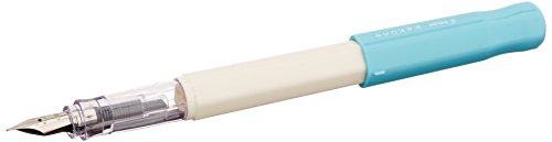 Pilot FKA-1SR-M Kakuno Fountain Pen (Medium Point) - White Barrel/ Soft Blue Cap