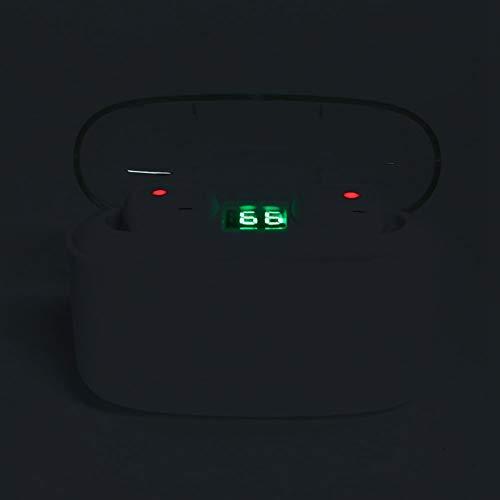 Sutinna Mini TWS Earbuds, Auriculares inalámbricos Bluetooth 5.0 Auriculares Ergonómicos Deportivos Impermeables en la Oreja, Auriculares Estereofónicos con Control Táctil con Estuche de Carga(Negro)