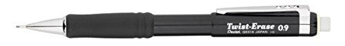 Pentel Twist-Erase III Automatic Pencil, 0.9 mm, Black (QE519A)