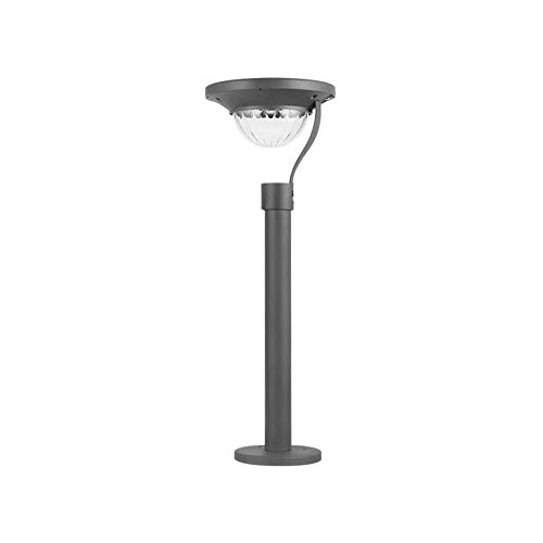 SYyshyin Lámpara de ahorro de energía solar Luz solar súper brillante para césped Impermeable Jardín en casa Villa Patio Luz solar LED Lámpara de cabeza de columna solar Lámpara de pared de patio exte