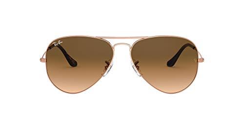 Amazon.com: Ray-Ban RB3025 Classic Aviator Sunglasses, Copper/Brown Gradient, 62 mm