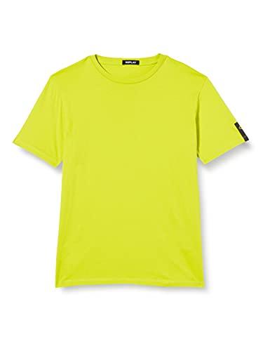 REPLAY M3135 .000.2660 Camiseta, 754 limón Brillante, M para Hombre
