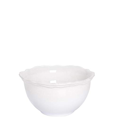 BUTLERS Eaton Place Schalen-Set aus Keramik Ø 14 cm in Weiß - 6 Suppenschalen im romantischen Stil - Geschirr-Set