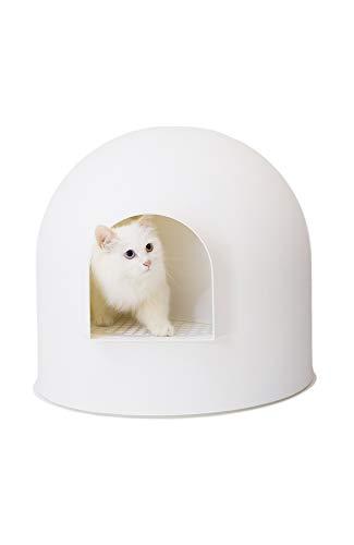 pidan ピダン 猫 トイレ ドーム 猫トイレ 猫トイレ本体 猫のトイレ スコップ付き (ホワイト)