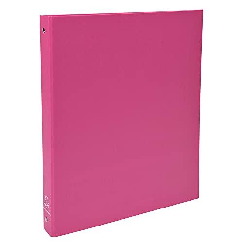 Exacompta 51365E - Carpeta con 4 anillas, A4, color rosa