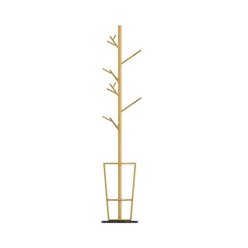 LZL Estante de Abrigo de Hierro de Rama Creativa nórdica, Soporte de Abrigo de Madera Maciza, árbol de Capa de salón Libre para Abrigos, Sombreros, Bolsas, Bolsos (Color : Gold Black)