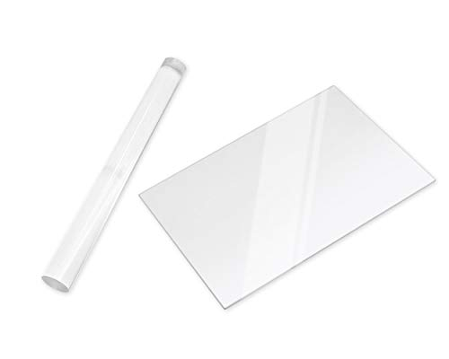 SCSpecial Rodillo de arcilla acrílica y hoja de acrílico para rodillo de arcilla polimérica con hoja de tablero transparente, herramientas de laminación para modelado y modelado de arcilla