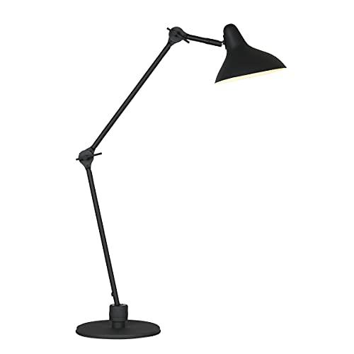 Lámpara de mesa E27, color negro mate, de metal, 2692ZW