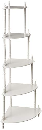 Frenchi Home Furnishing 5-Tier Corner Stand, White