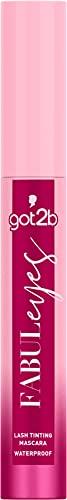 got2b Lash Tinting Mascara Fabuleyes Waterproof, Volumen & Definition gebende wasserfeste Wimperntusche mit semi-permanentem Tönungseffekt, parfümfrei, 13,5 ml